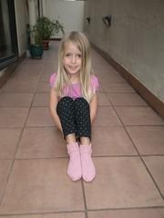 Socks and model