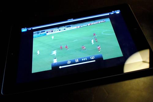 iPad with WatchESPN app