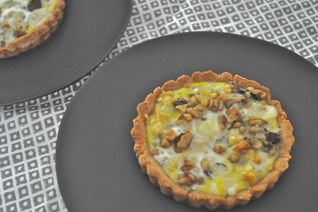 Gorgonzola-Apple Quiches