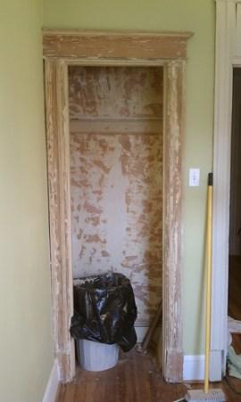Nursery closet scraped 50%