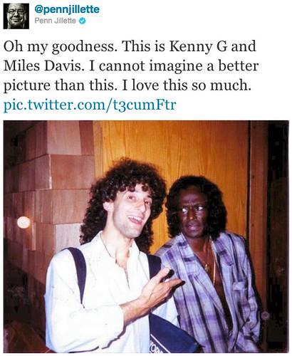 Kenny G & Miles Davis (Twitter)