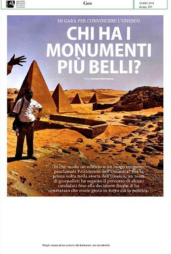 Michael Stuhrenberg, [Patrimonio dell` Umanita] CHI HA I MONUMENTI PIU` BELLI. GEO (01/12/2011), p. 100 [PDF  = PARTE 1, pp. 1-10]. by Martin G. Conde