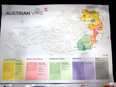 Austrian Map, Grüner Veltliner from Austria, World Gourmet Series Wine & Restaurant Experience 2011 WRX Wine Journey