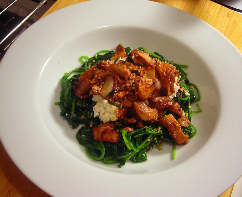 Fusion spinach salad