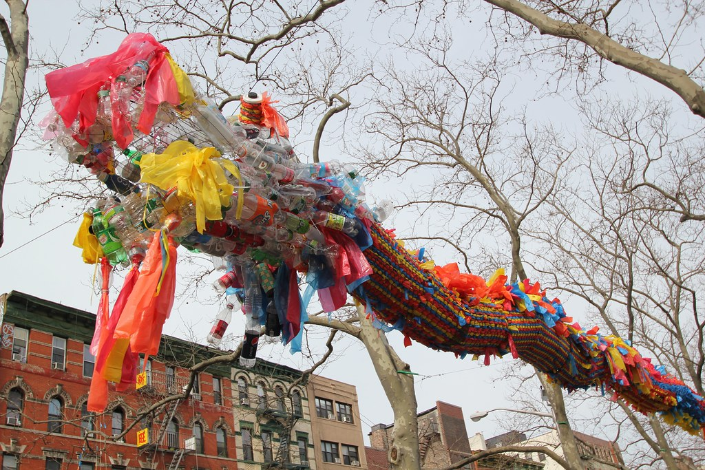 Recycled Dragon in Sara D. Roosevelt Park NYC