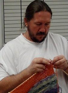Prison knitter