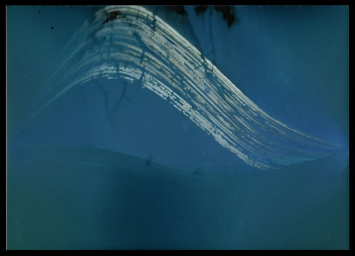 Pinhole camera 2 photo paper - inverted and adjusted