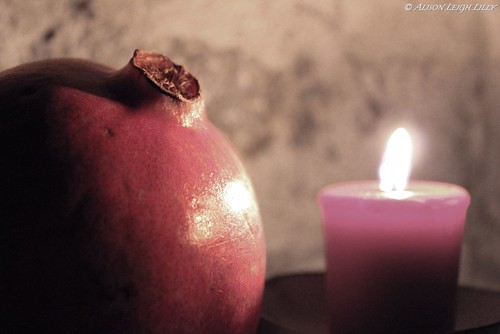 Pomegranate and Candle