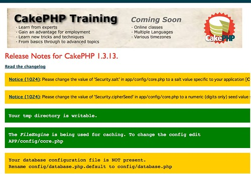 CakePHP: the rapid development php framework: Home