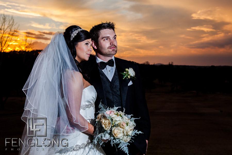 Sunset Light | Elizabeth & Greg's Wedding | Hilton Marietta Hotel & Transfiguration Catholic Church | Marietta Atlanta Wedding Photographer