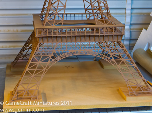 Eiffel Tower in 1/285th Scale