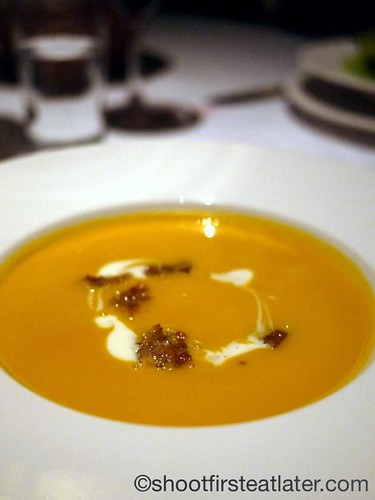 French red pumpkin soup $9
