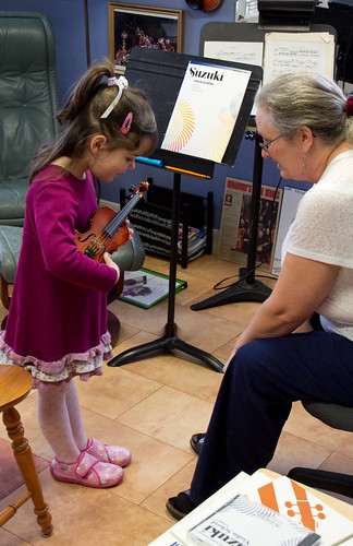 First Violin Lesson
