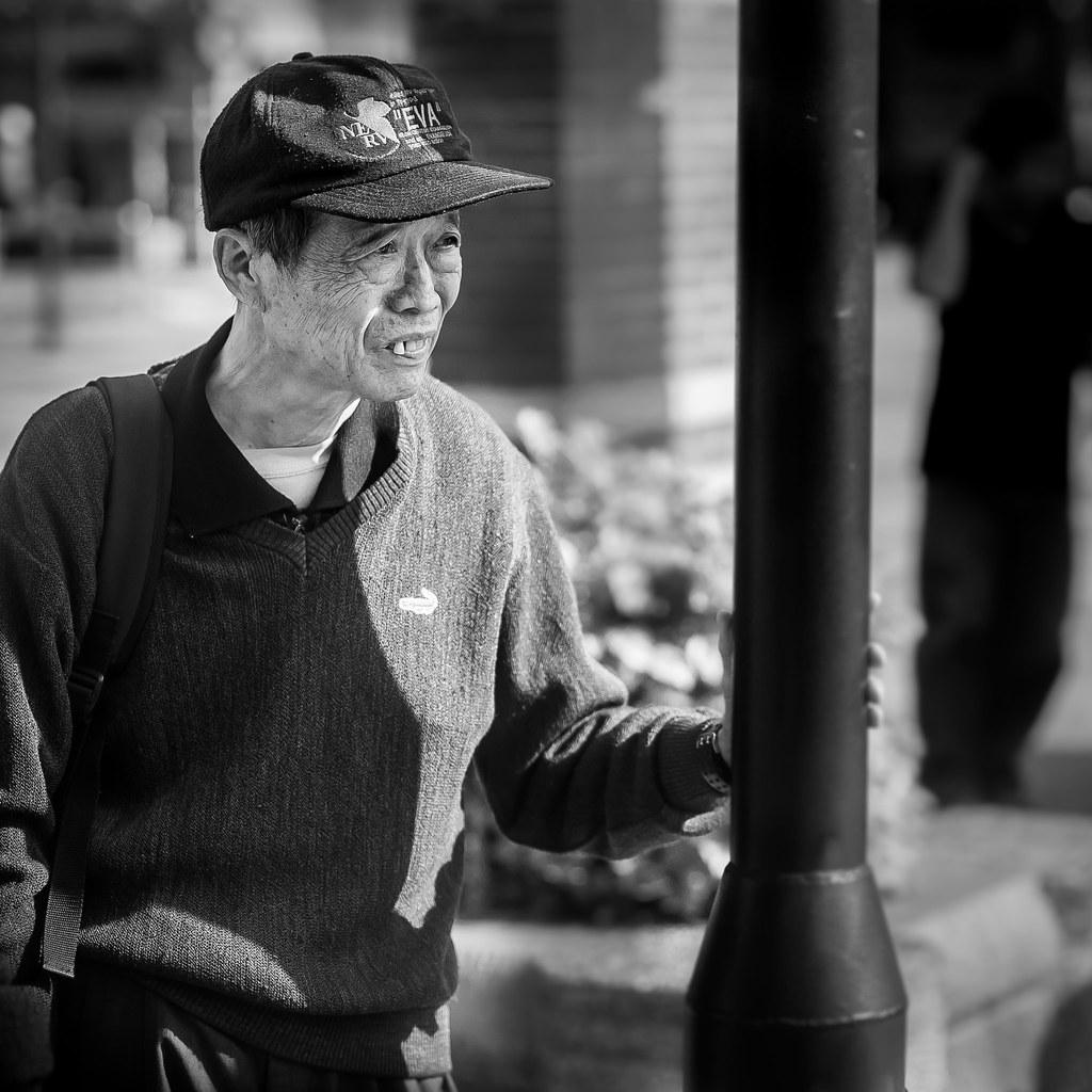 Taichung Bus Stop Man
