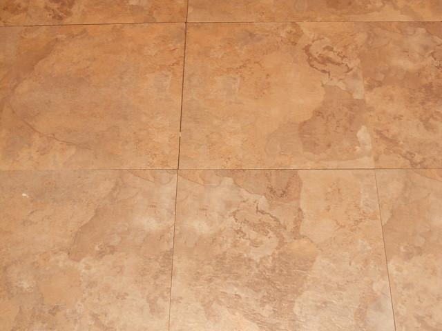Before--Cheap vinyl tiles