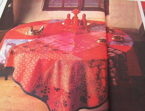 folky table cloth