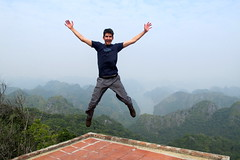 Leaping in Halong Bay