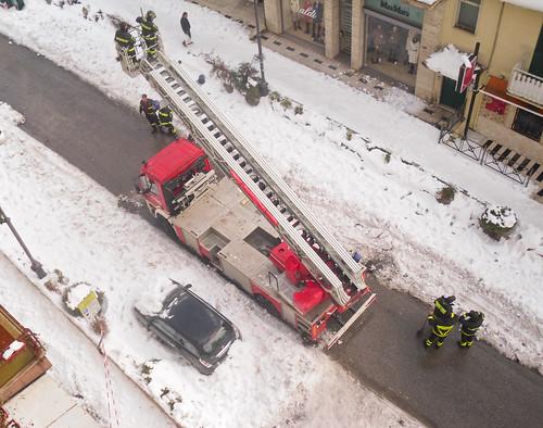 Neve a Frosinone - Intervento Vigili del Fuoco by robertodimo