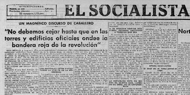 Resultado de imagen de El Socialista, 9 de febrero de 1936).