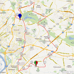 11. Bike Route Map. Hamilton Area YMCA, Crosswicks, NJ