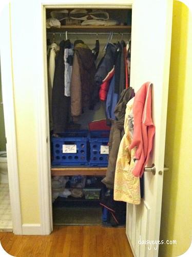 hall coat closet before