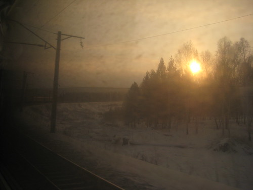 Sunset on the Trans-Siberian