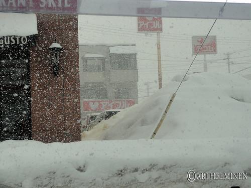 Snowing in Hirosaki