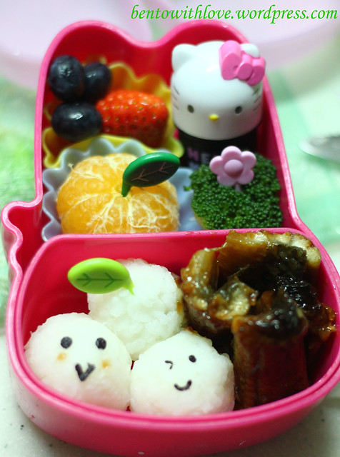 Unagi Bento with Rice Balls