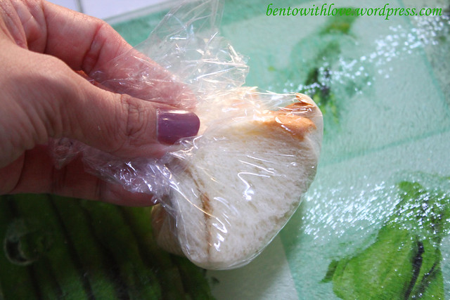 Wrap the bread in clingwrap.