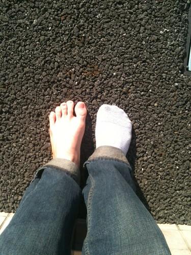 Rough Feet, rough day