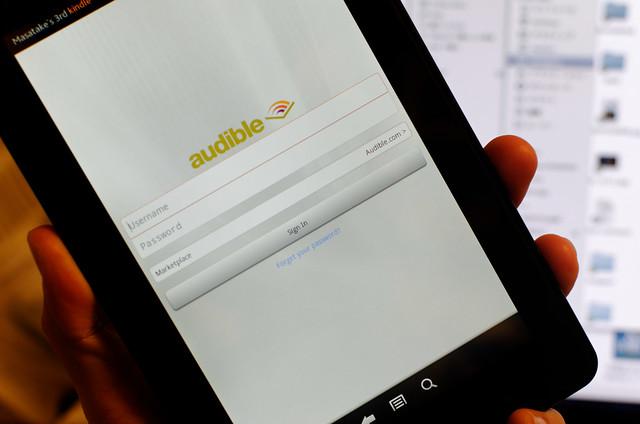 Kindle Fire で Audible を使えば活字と音声でいつでも読書が