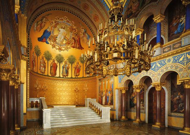 Postcard Neuschwanstein Throne Room Flickr Photo