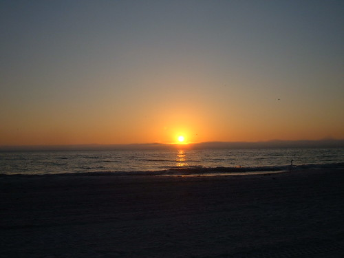 Sunset on Gulf of Mexico from St. Petersburg Florida