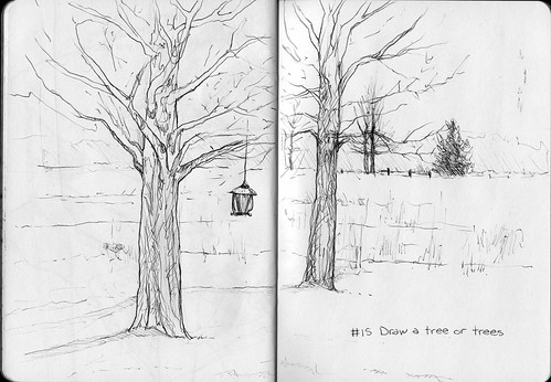 Sketchbook Project/EDM #15 Draw a tree or trees