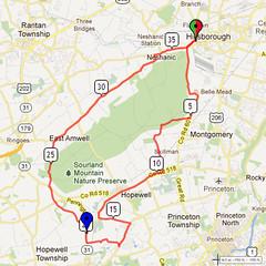 20. Bike Route Map. Somerset Valley YMCA, Hillsborough, NJ