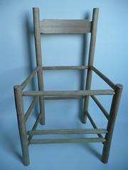 Natural oak chair