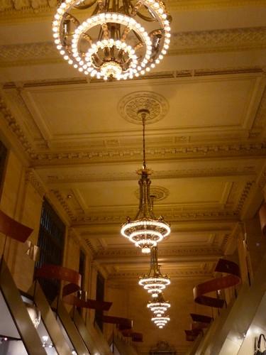 Lighting fixtures in Vanderbilt Hall