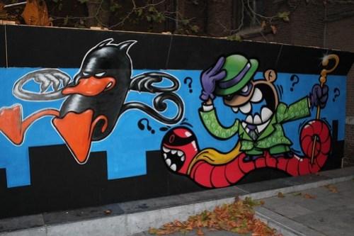 Graffiti by Luke Da Duke, Earworm & KBTR @ Catharinakerk, Eindhoven