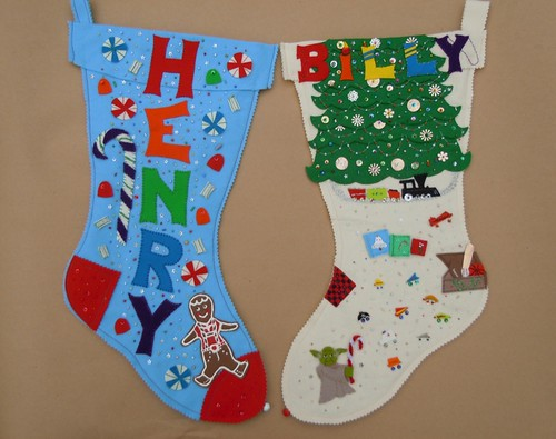 Custom felt Christmas stockings