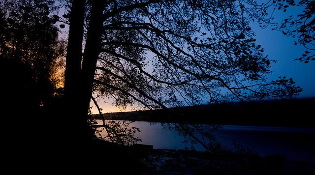 Late night at Sognsvann