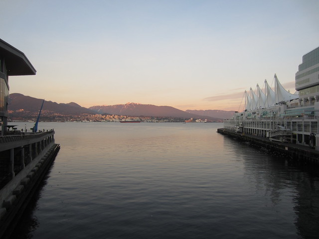 By Canada Place, looking across to North Van