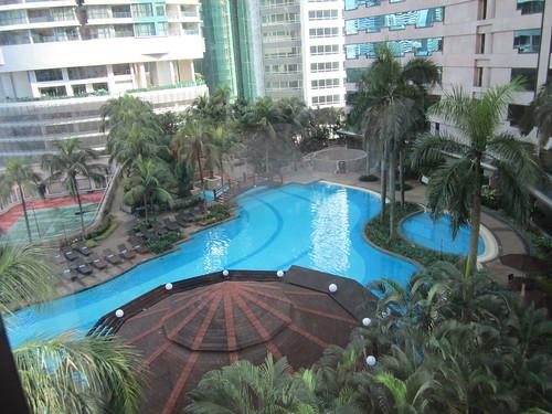 Renaissance KL - poolside view