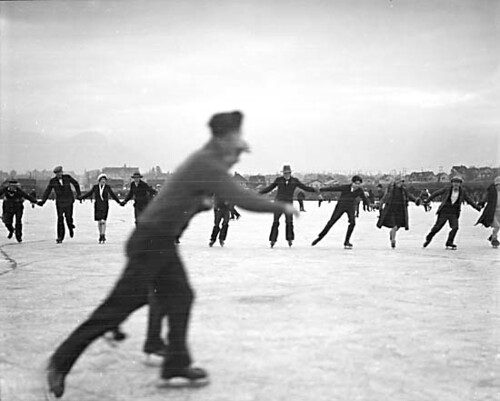 Skaters on Trout Lake 1929
