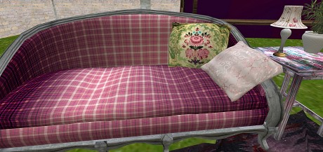 Close up of sofa, super cute!