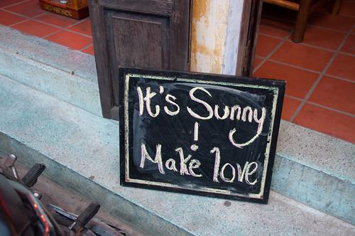 It's sunny, make love!