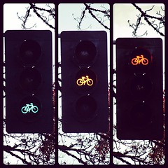 New Bike Stop Lights at 18th and Allder