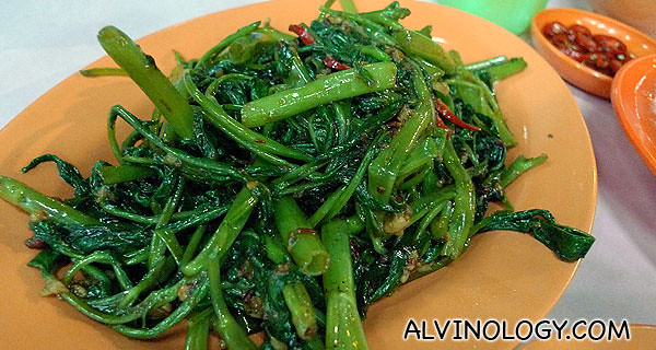Spicy kangkong