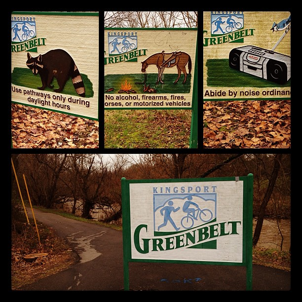 Funny signage from the Greenbelt in my hometown, where I ran this morning.