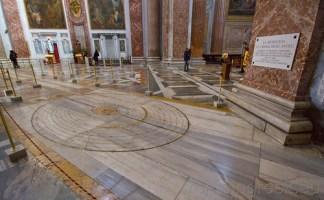 La meridiana di Sabta Maria degli angeli a Roma