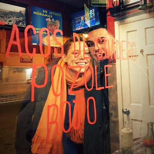 Late night #taqueria run... @urbancasita and her brother